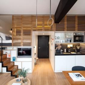 Дизайн двухуровневой квартиры свободной планировки