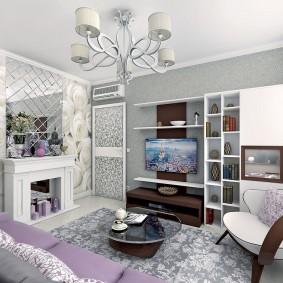 Отделка гостиной в пастельных оттенках