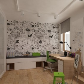 Корпусная мебель в детской комнате