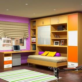 Компактная мебель для комнаты школьника