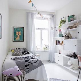 Белоснежная мебель в скандинавском стиле