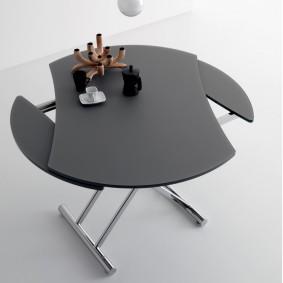 Круглый стол с раздвижной столешницей