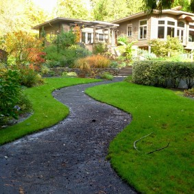 Гравийная дорожка извилистой формы