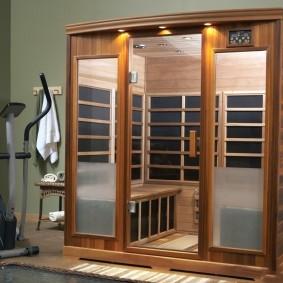 Прозрачные дверцы из закаленного стекла