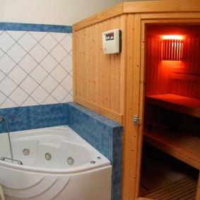 Угловая ванна с функцией гидромассажа