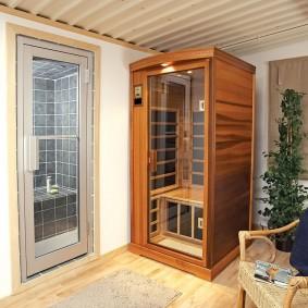 Инфракрасная сауна в деревянном корпусе