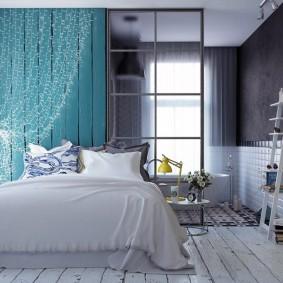 Оригинальный интерьер спальной комнаты