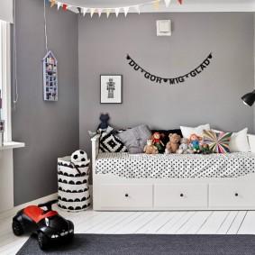 Детская спальня в серых оттенках