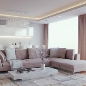 Вместительный диван угловой формы