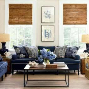 Римские шторы из натурального бамбука