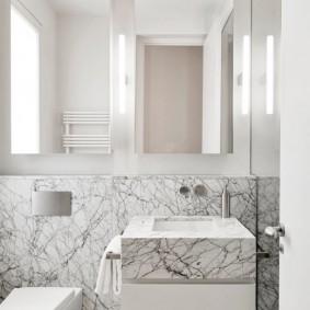 Отделка ванной искусственным мрамором