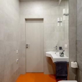 Наливной пол оранжевого цвета