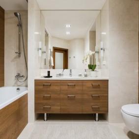 Мебель для ванной с выдвижными ящиками