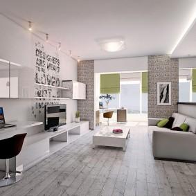 Дизайн современной гостиной в светлых тонах