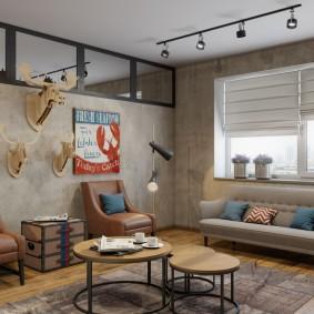 Яркие постеры в интерьере квартиры