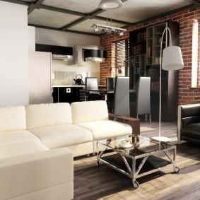 Лофт в интерьере двухкомнатной квартиры