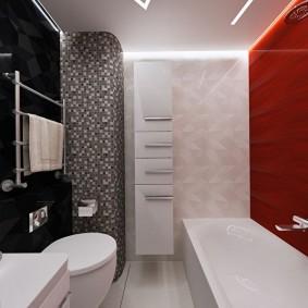 Совмещенная ванная комната в современной квартире
