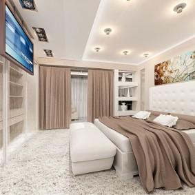 Освещение спальной комнаты в современном стиле