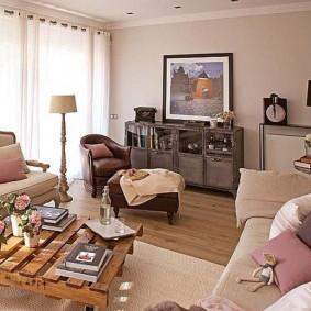 Ретро мебель в городской квартире