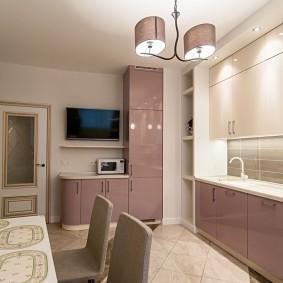 Кухня в квартире улучшенной плланировки