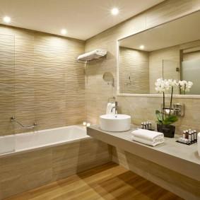 Освещение ванной комнаты в современном стиле