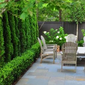 Садовые кресла из натурального дерева