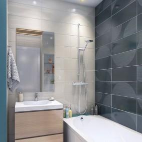 Интерьер ванной комнаты без туалета
