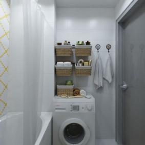 Подвесные корзинке над стиральной машиной