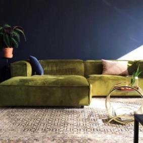 Модульный диван с тканевой обивкой