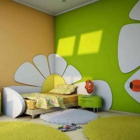 Окраска стен детской комнаты латексной краской