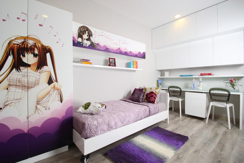 Аниме-принт на фасадах детской мебели для девочек