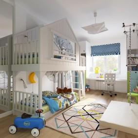 игровая детская комната декор фото