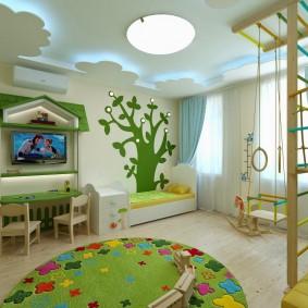 игровая детская комната идеи интерьер