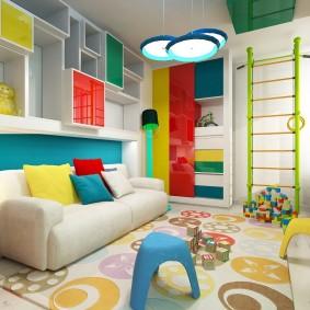 игровая детская комната оформление фото