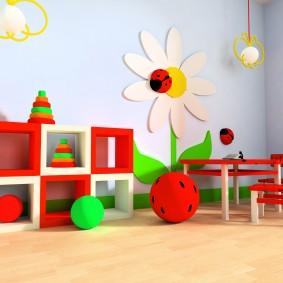 игровая детская комната виды оформления