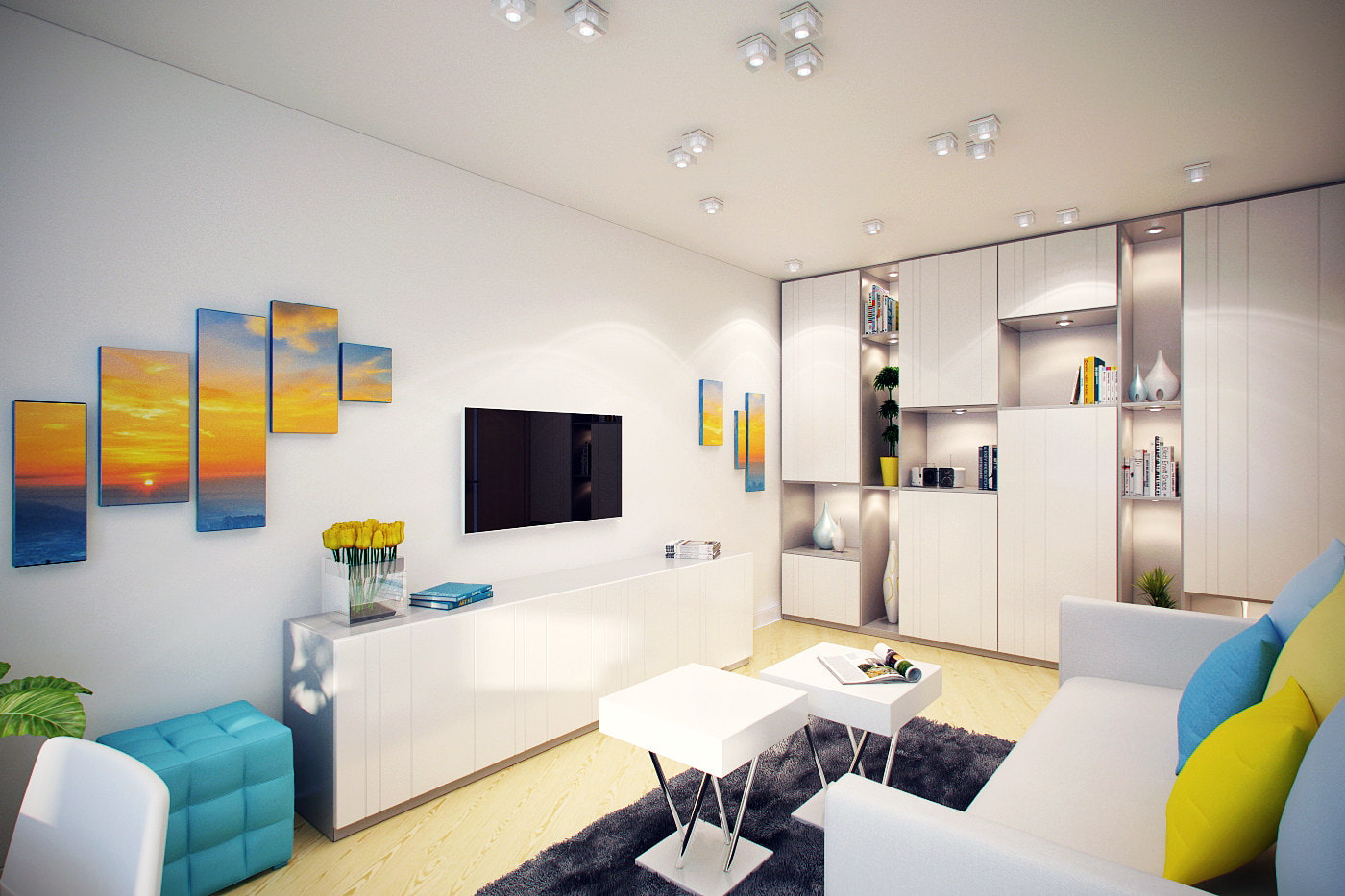 интерьер двухкомнатной квартиры