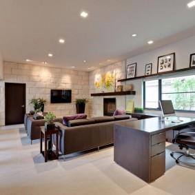 кабинет в квартире декор