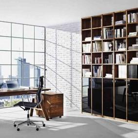 кабинет в квартире фото интерьер