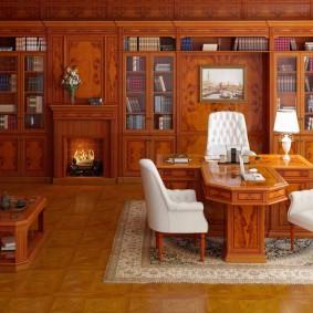 кабинет в квартире фото оформления
