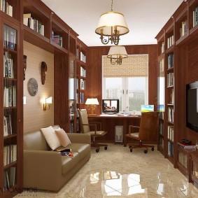 кабинет в квартире интерьер дизайн