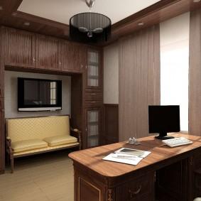 кабинет в квартире оформление фото