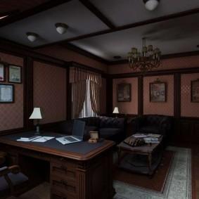 кабинет в квартире в лондонском стиле