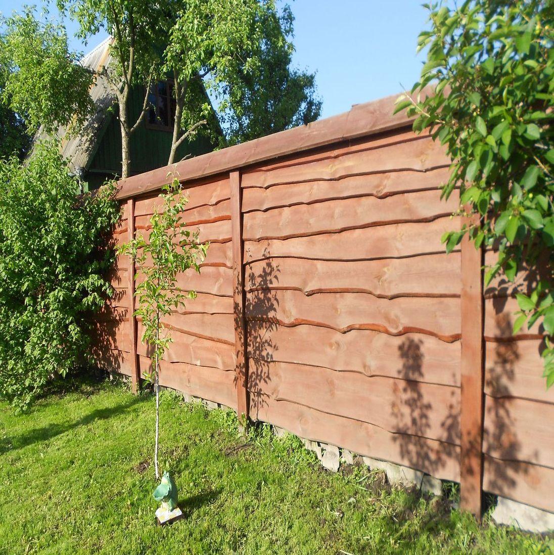 как сделать забор из горбыля