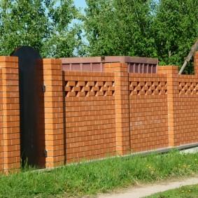 кирпичный забор дизайн идеи