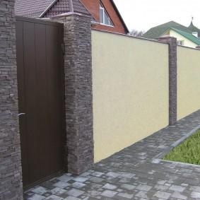 кирпичный забор дизайн