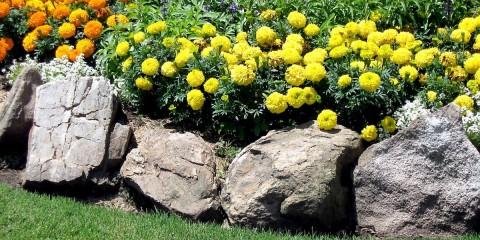клумба из камня дизайн