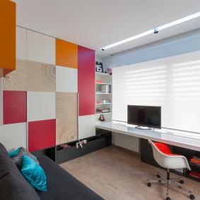 Детская мебель с яркими фасадами