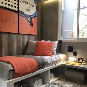 Детская кровать с полками для хранения вещей