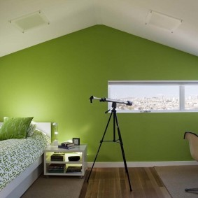 Зеленая стена в загородном доме