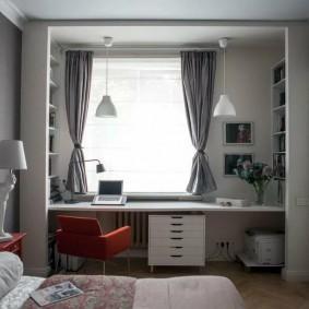 Подростковая комната в современной квартире